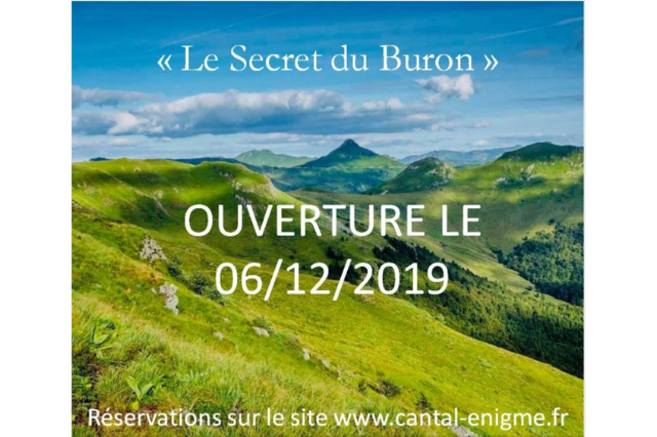 CANTAL ENIGME - ESCAPE GAME - « LE SECRET DU BURON »