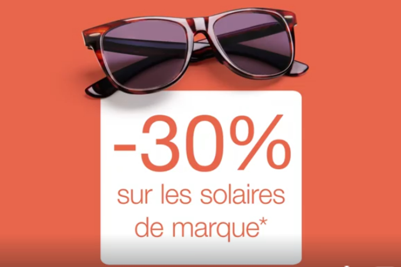 LES OPTICIENS MUTUALISTES - Solaires -30%  {R}