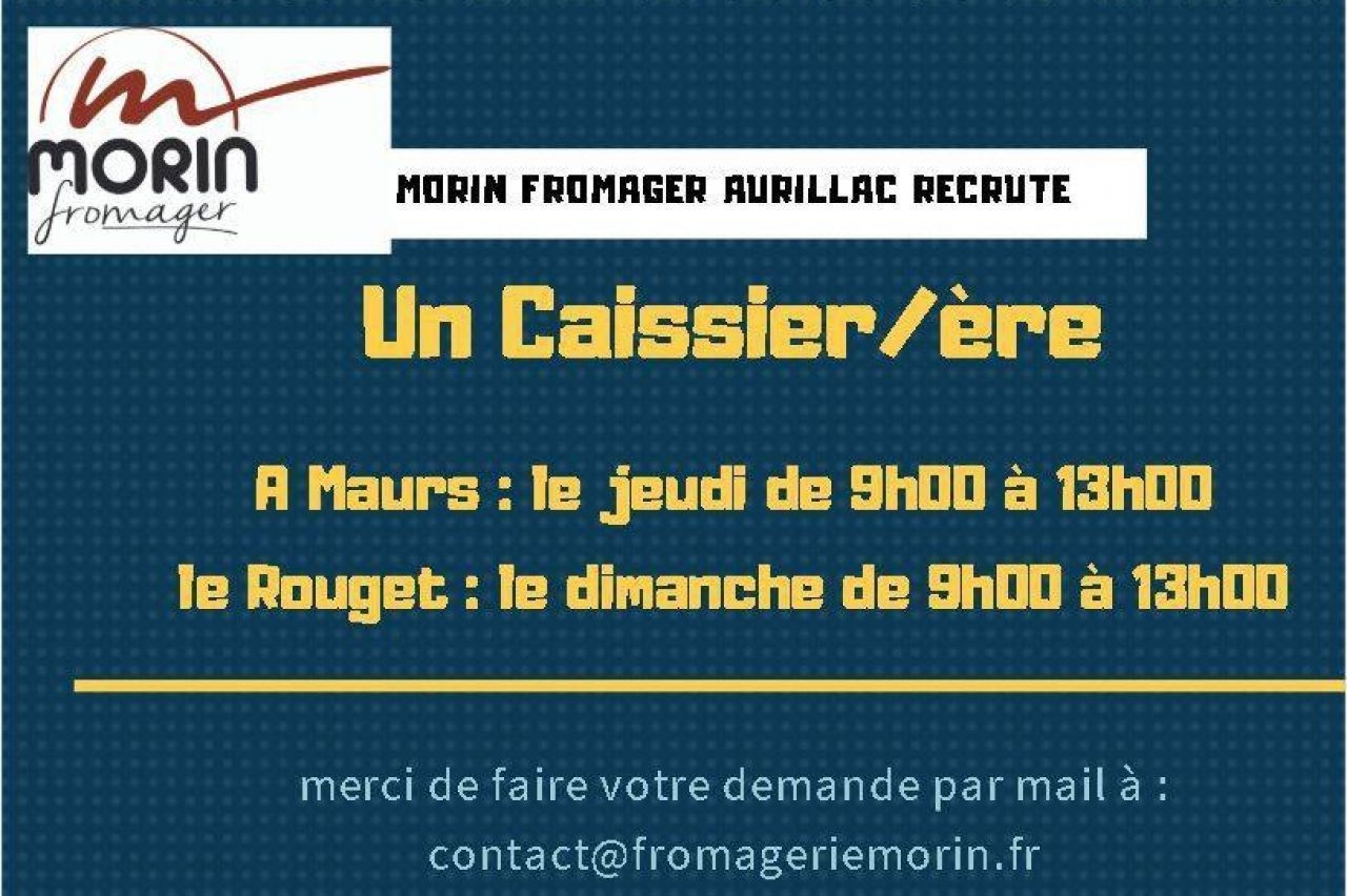 FROMAGERIE MORIN - OFFRE D'EMPLOI